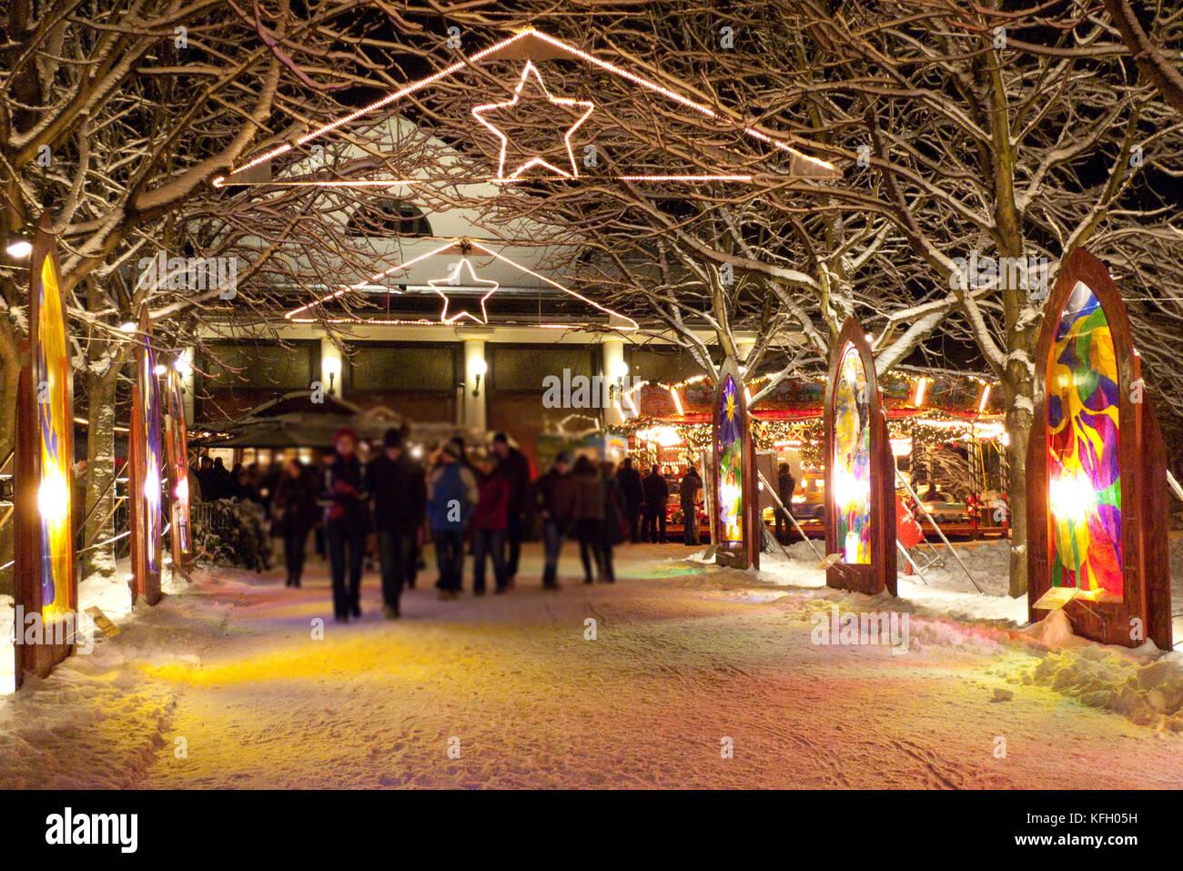 Weihnachtsmarkt, Christkindelsmarkt Baden-Baden - Stock Image