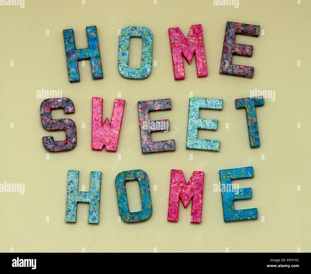 Home Sweet Home sign. - Stock Image
