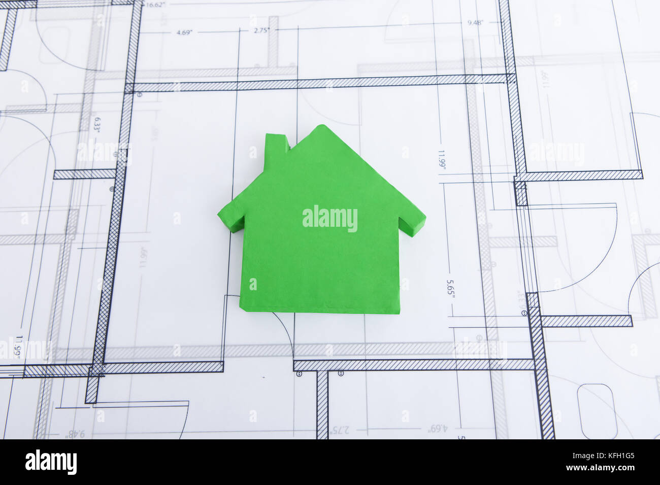 Model home diagram stock photos model home diagram stock images closeup of green house model on blueprint stock image ccuart Image collections