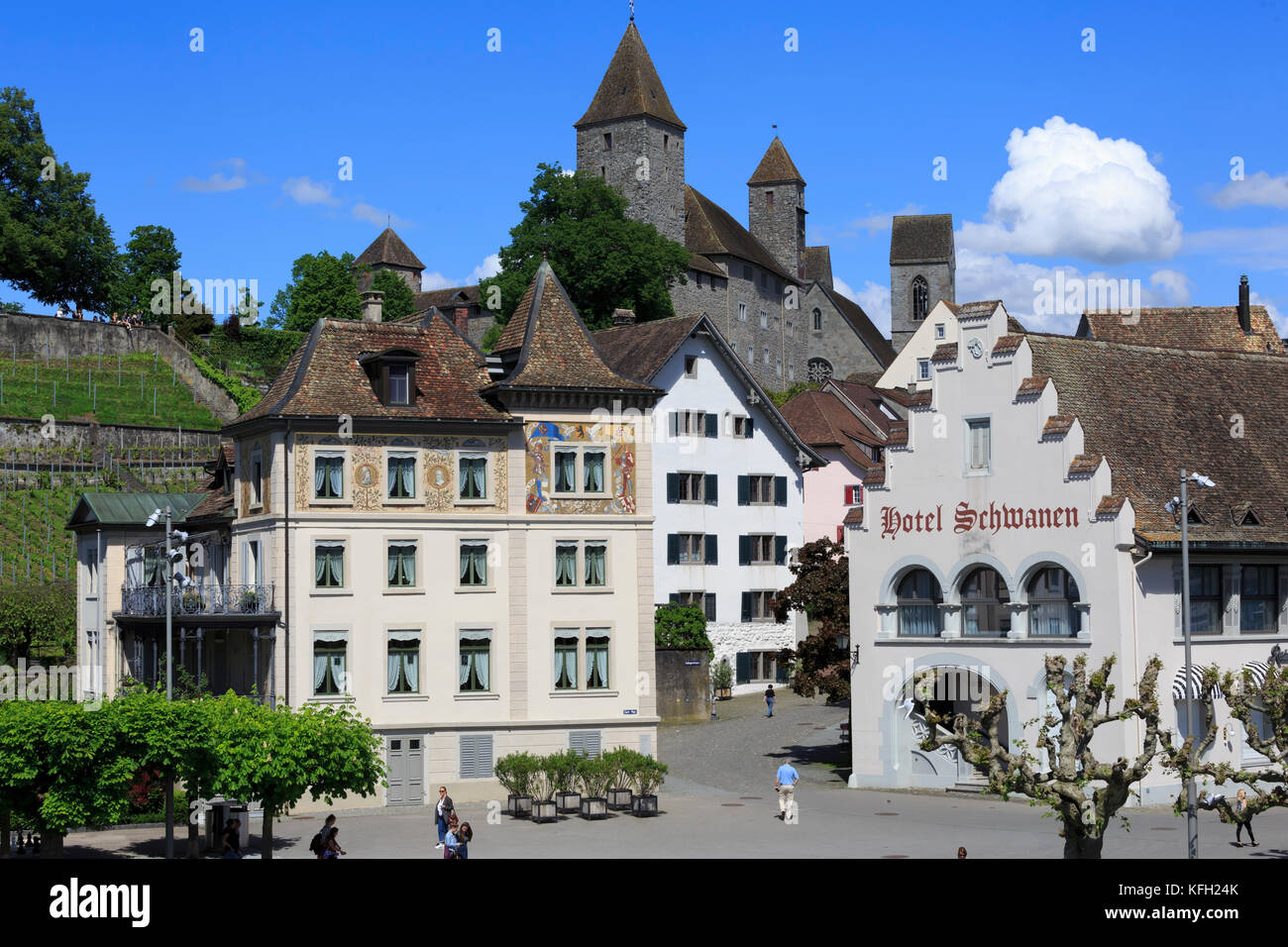 Rapperswil, St Gallen, Switzerland - Stock Image