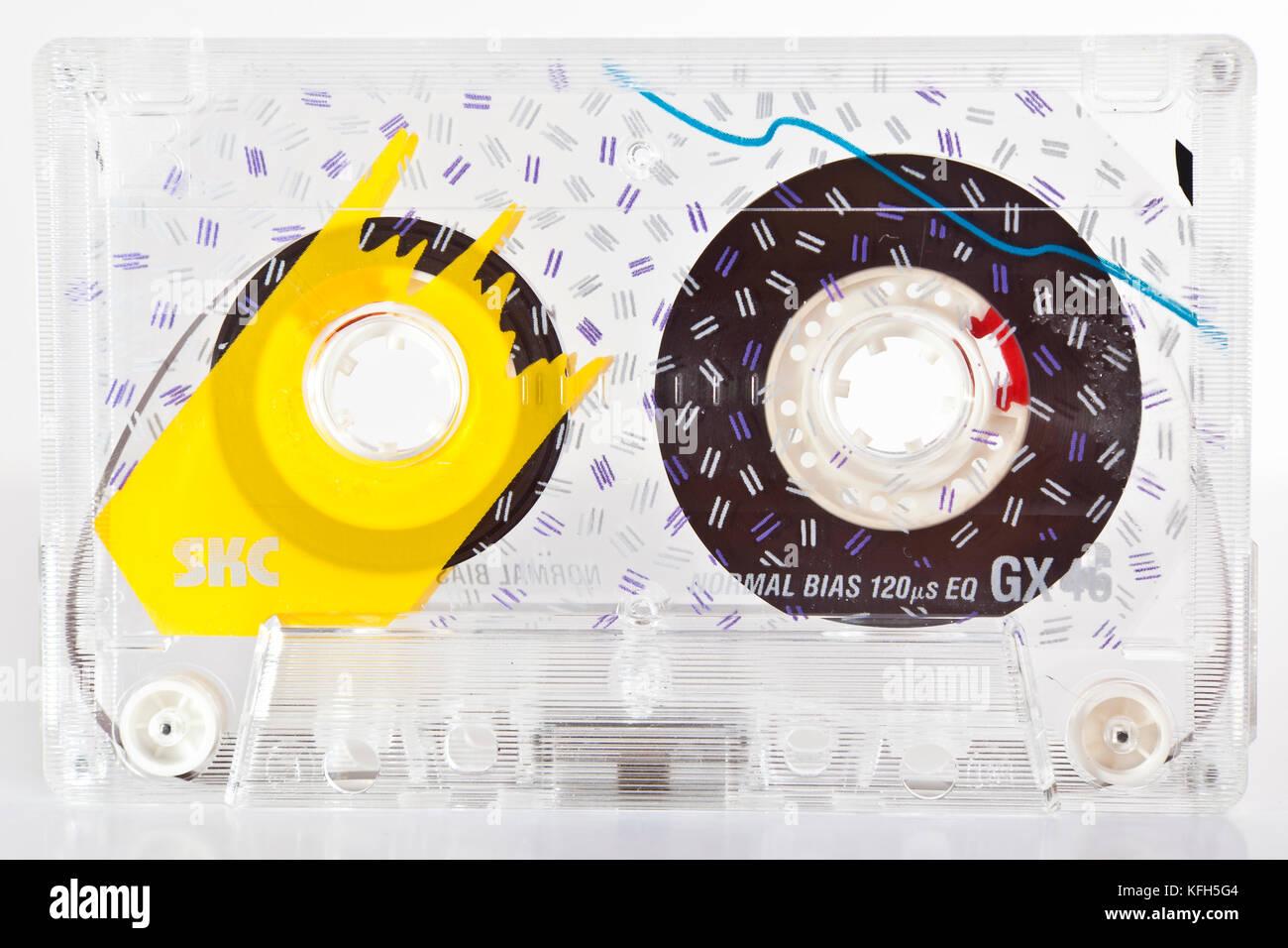 Music Cassette - Stock Image