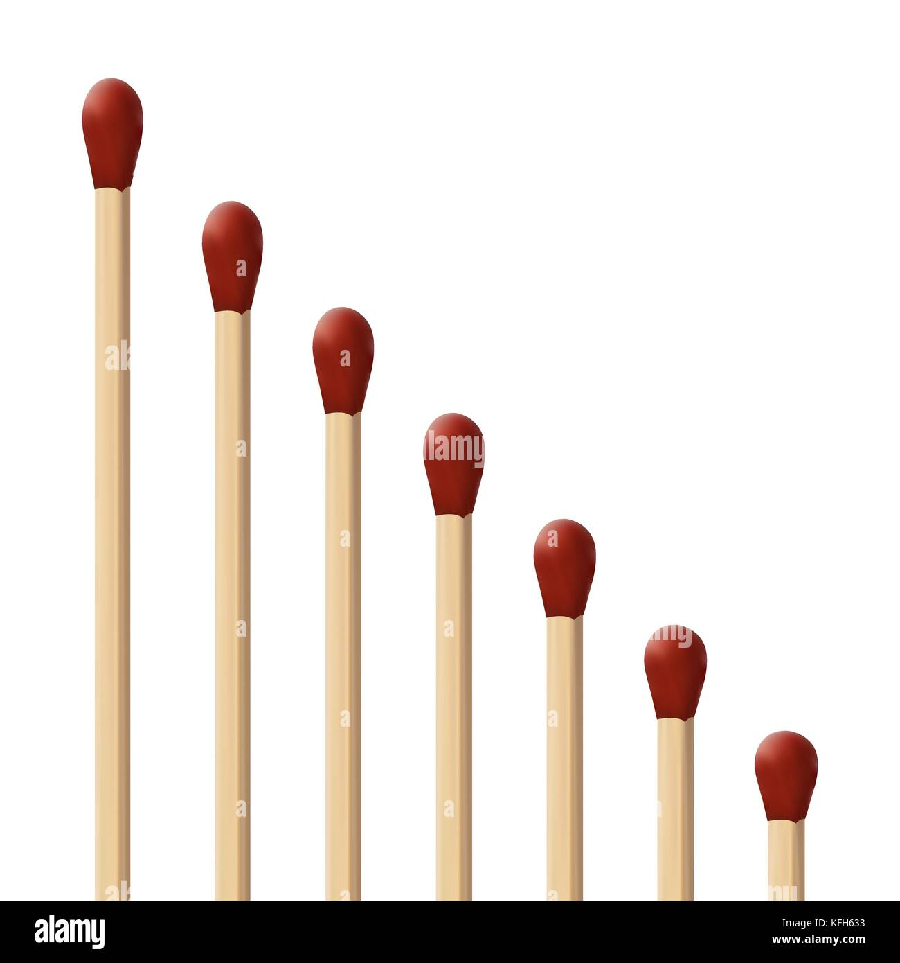 set of Unused matches  - Stock Image