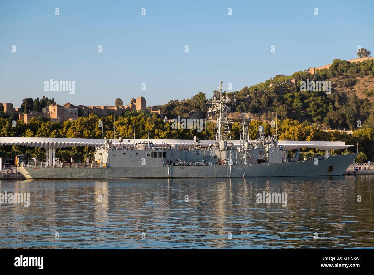 The Spanish frigate Numancia (F83). Port of Málaga, Spain. October 29th, 2017. - Stock Image