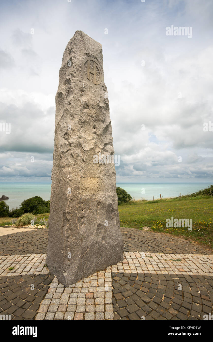 51st Highland Division memorial, Saint Valery en Caux, Normandy, France, Europe - Stock Image