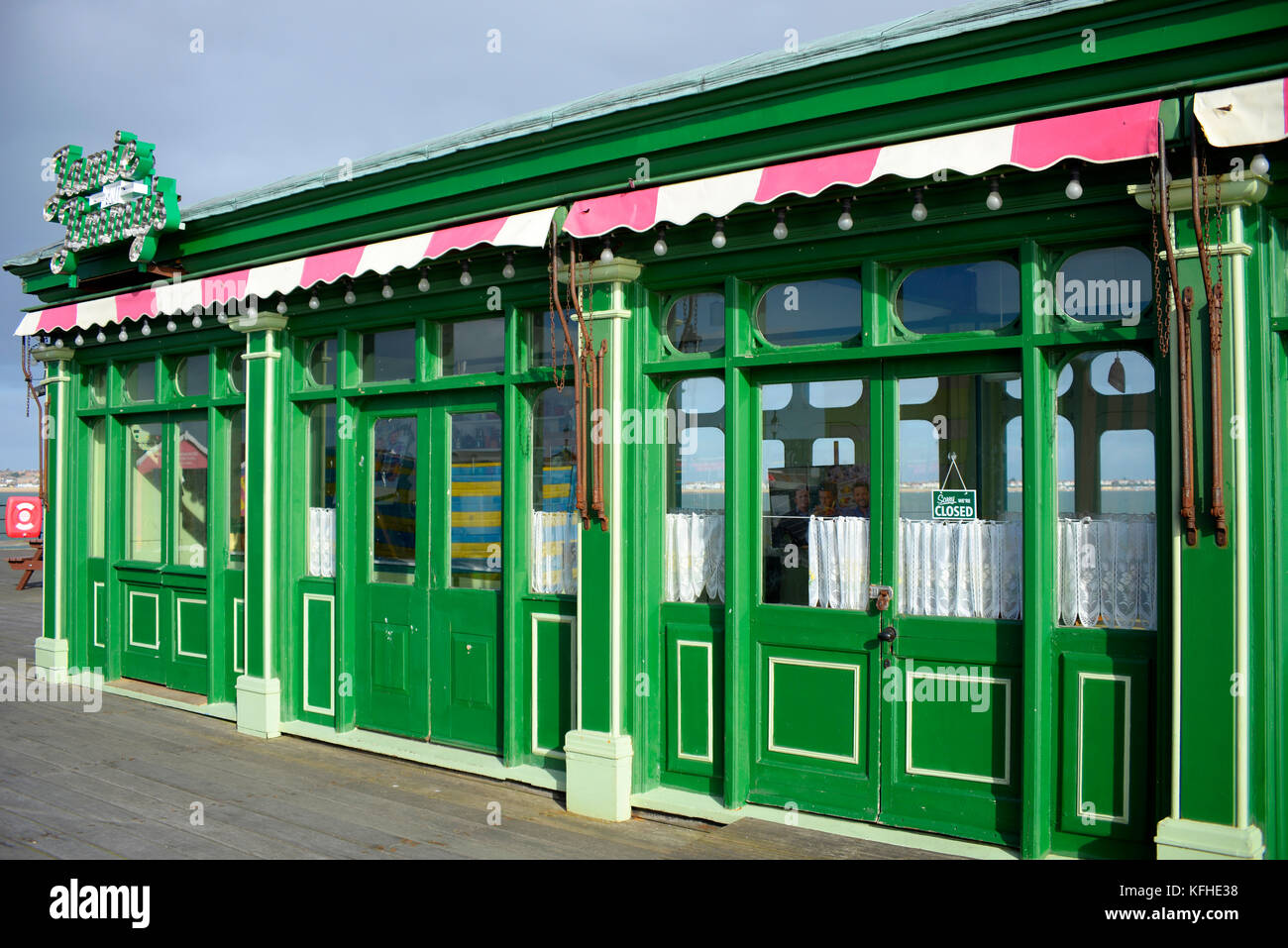 Jamie and Jimmy's cafe for filming the tv program Jamie & Jimmy's Food Fight Club with Jamie Oliver - Stock Image