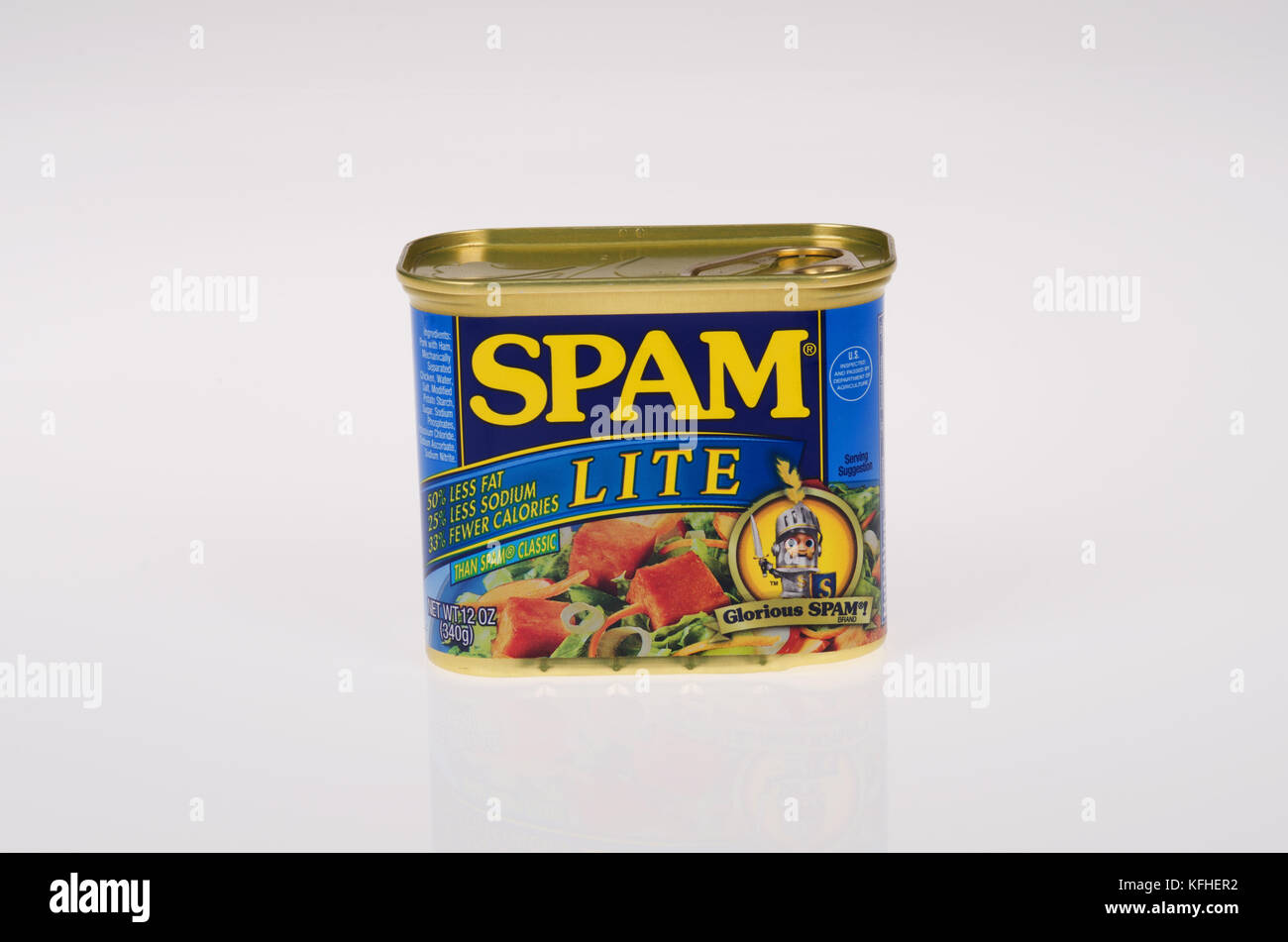 Spam Lite can by Hormel - Stock Image