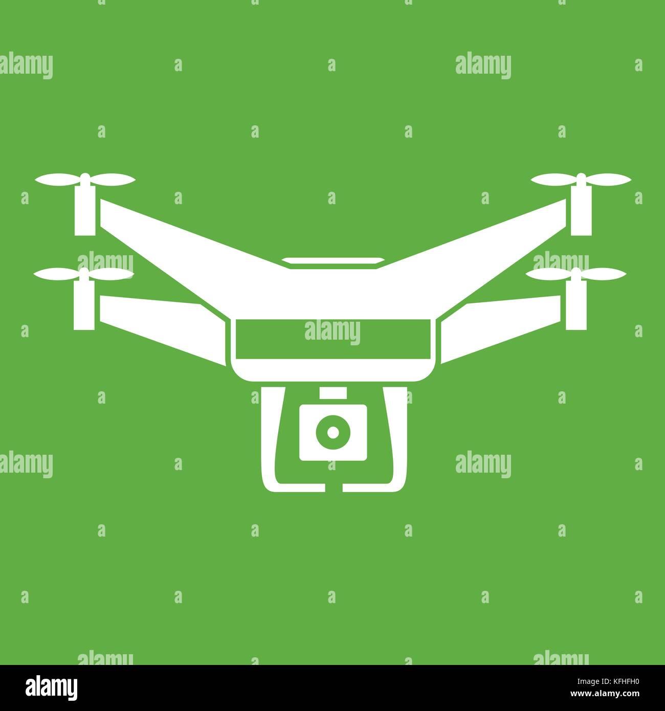 Drone Video Camera Icon Green