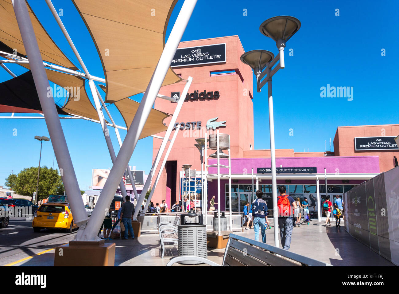 Las Vegas Premium Outlets North Shopping Mall - Stock Image