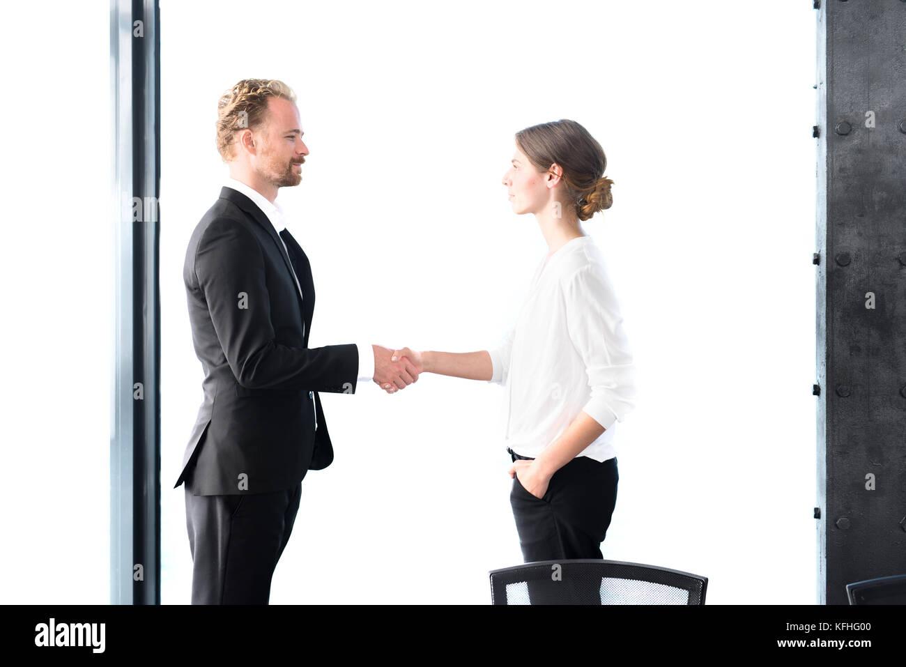 Business handshake. Concept of teamwork and partnership - Stock Image