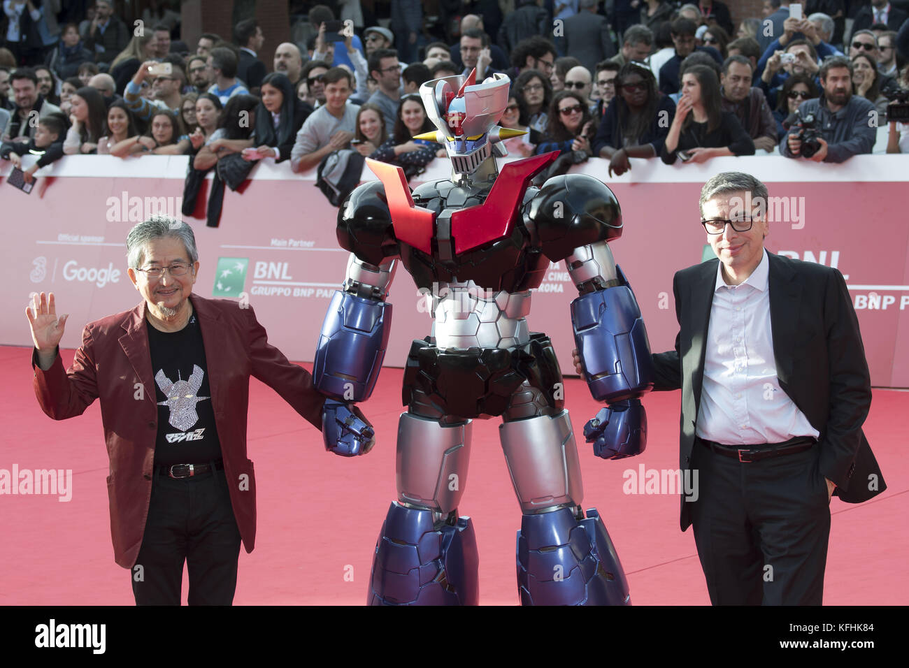 Rome, Italy. 28th Oct, 2017. Go Nagai attending the red carpet of Mazinger Z Infinity during the 12th Rome Film - Stock Image