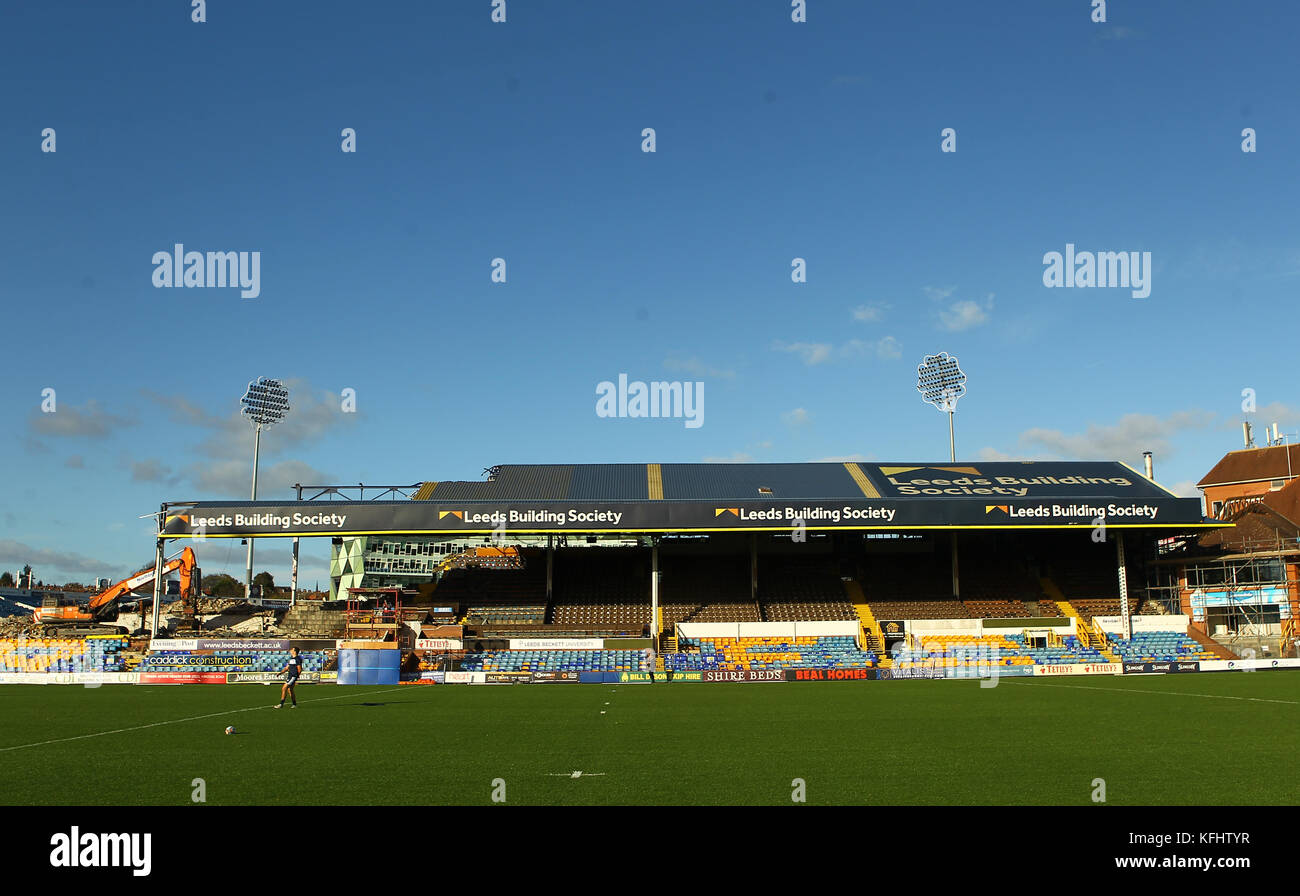 Headingley Carnegie Stadium, Leeds, UK 29th October 2017. Yorkshire Carnegie vs Bedford Blues RFC   General Stadium Stock Photo