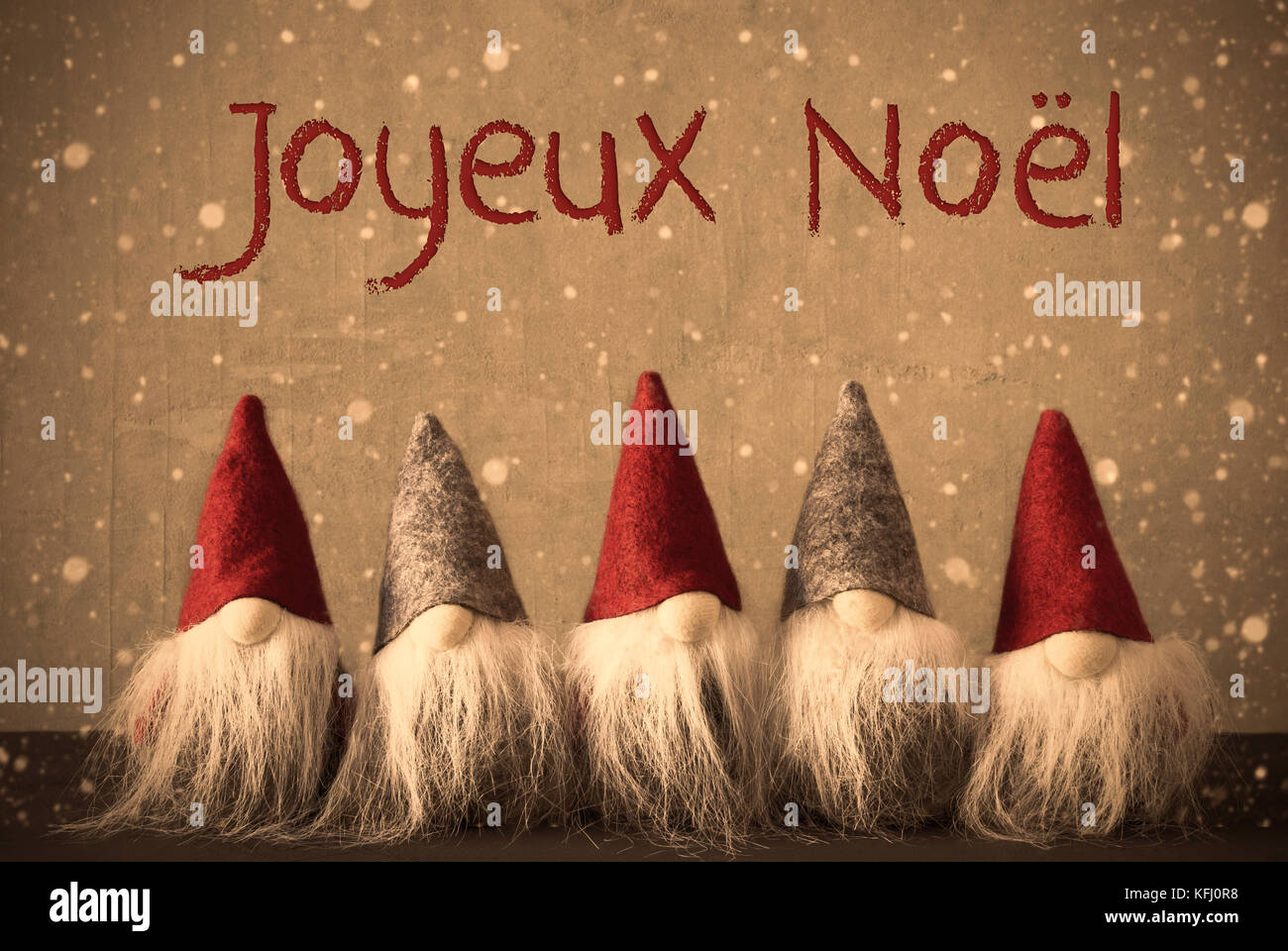 Www Joyeux Noel.Gnomes With French Text Joyeux Noel Means Merry Christmas