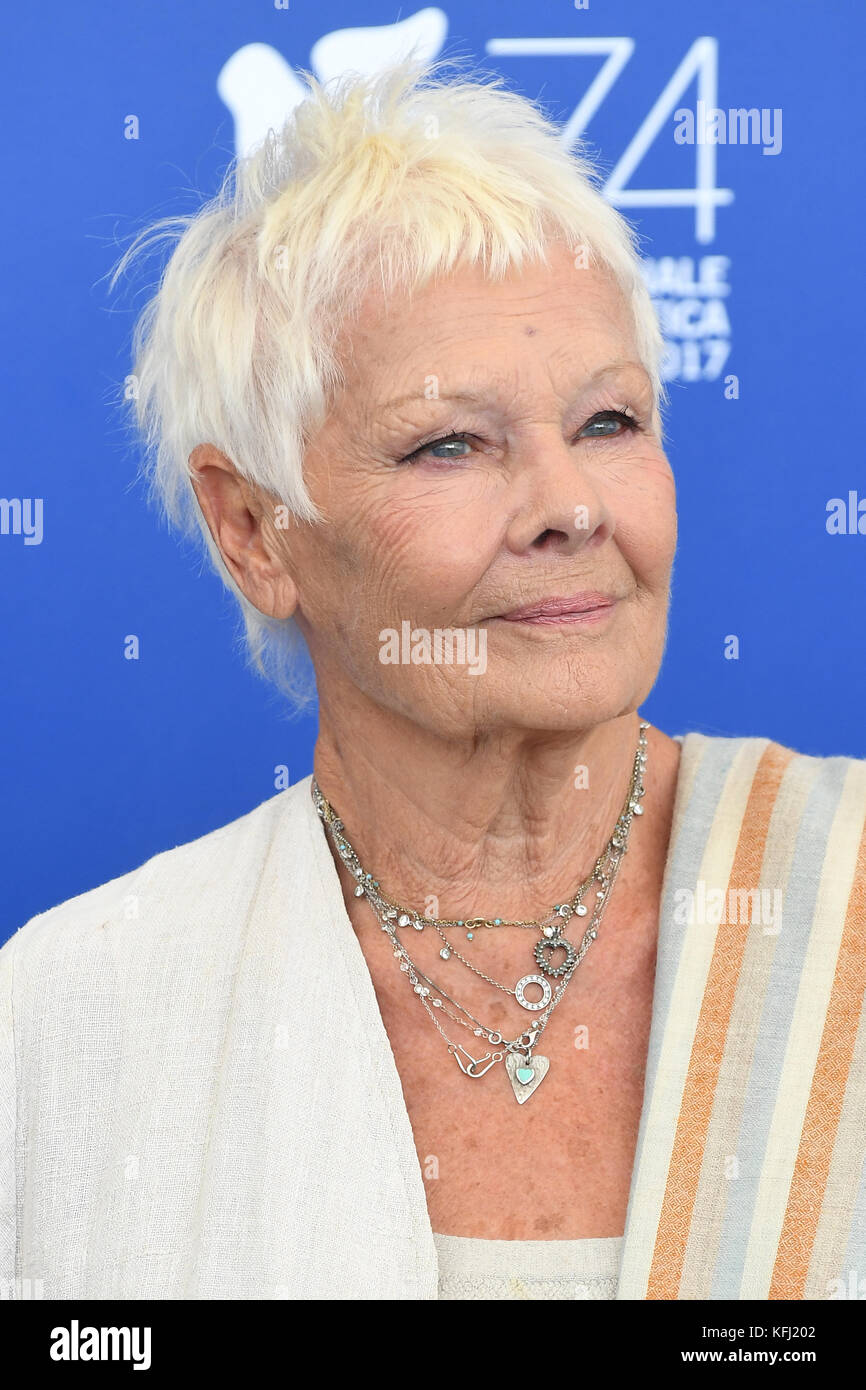 Dame Judi Dench attends the Victoria & Abdul photocall during the 74th Venice Film Festival in Venice, Italy. 3rd Stock Photo