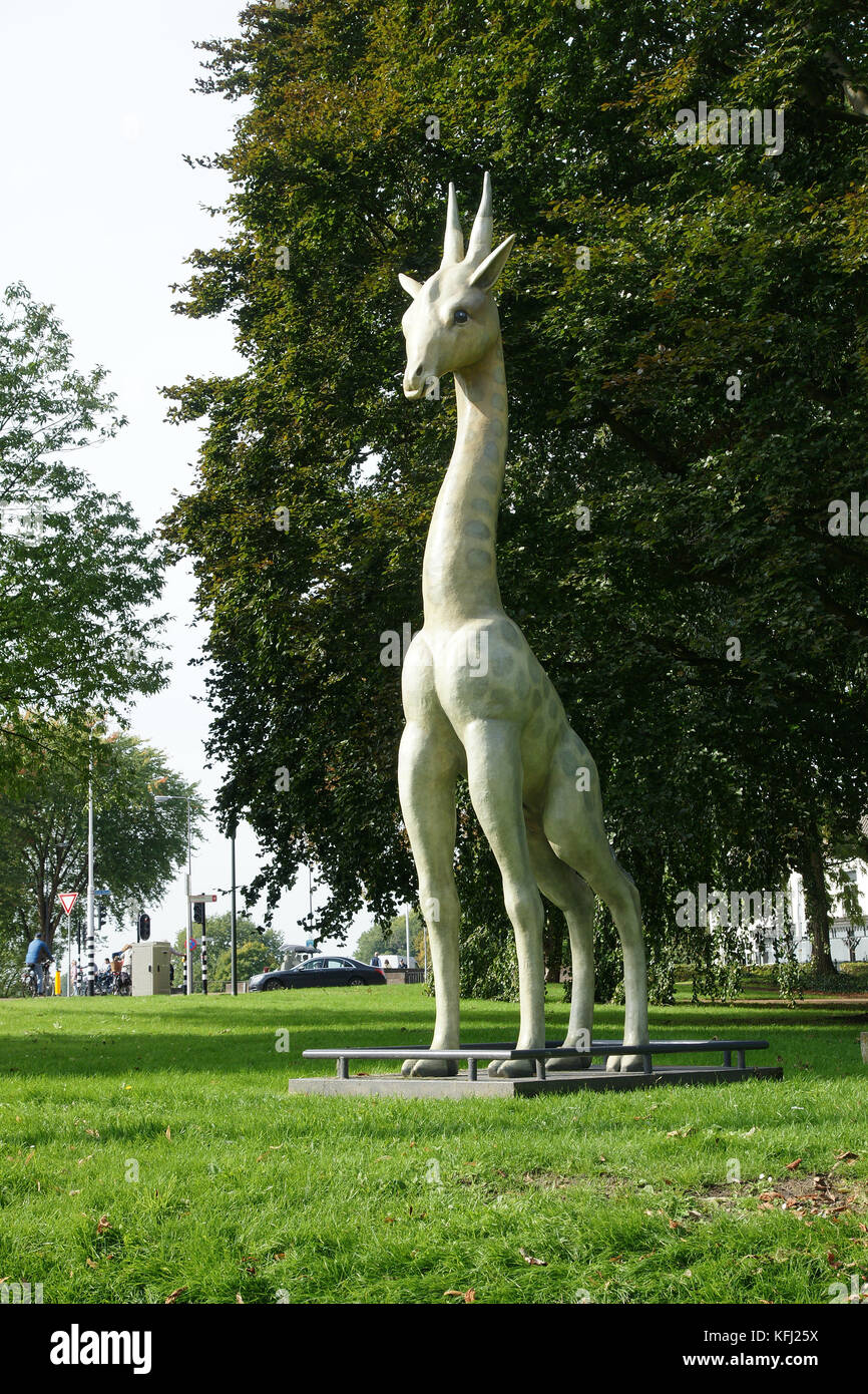 Many public art sculptures in S'Hertogensbosch reflect the fastastical creations of the city's most famous - Stock Image