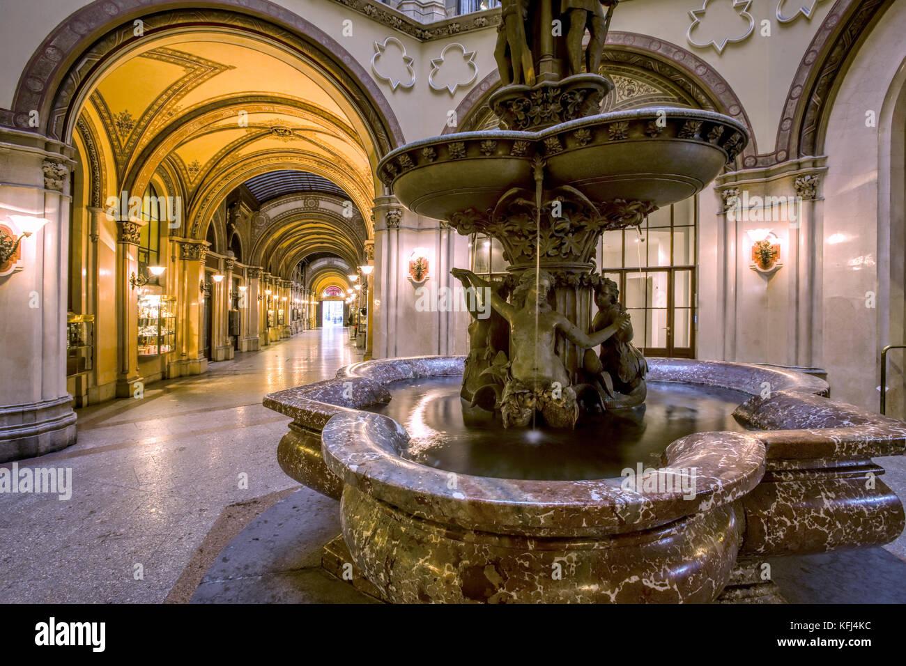 Freyung Passage in Palace Ferstel, Vienna - Stock Image