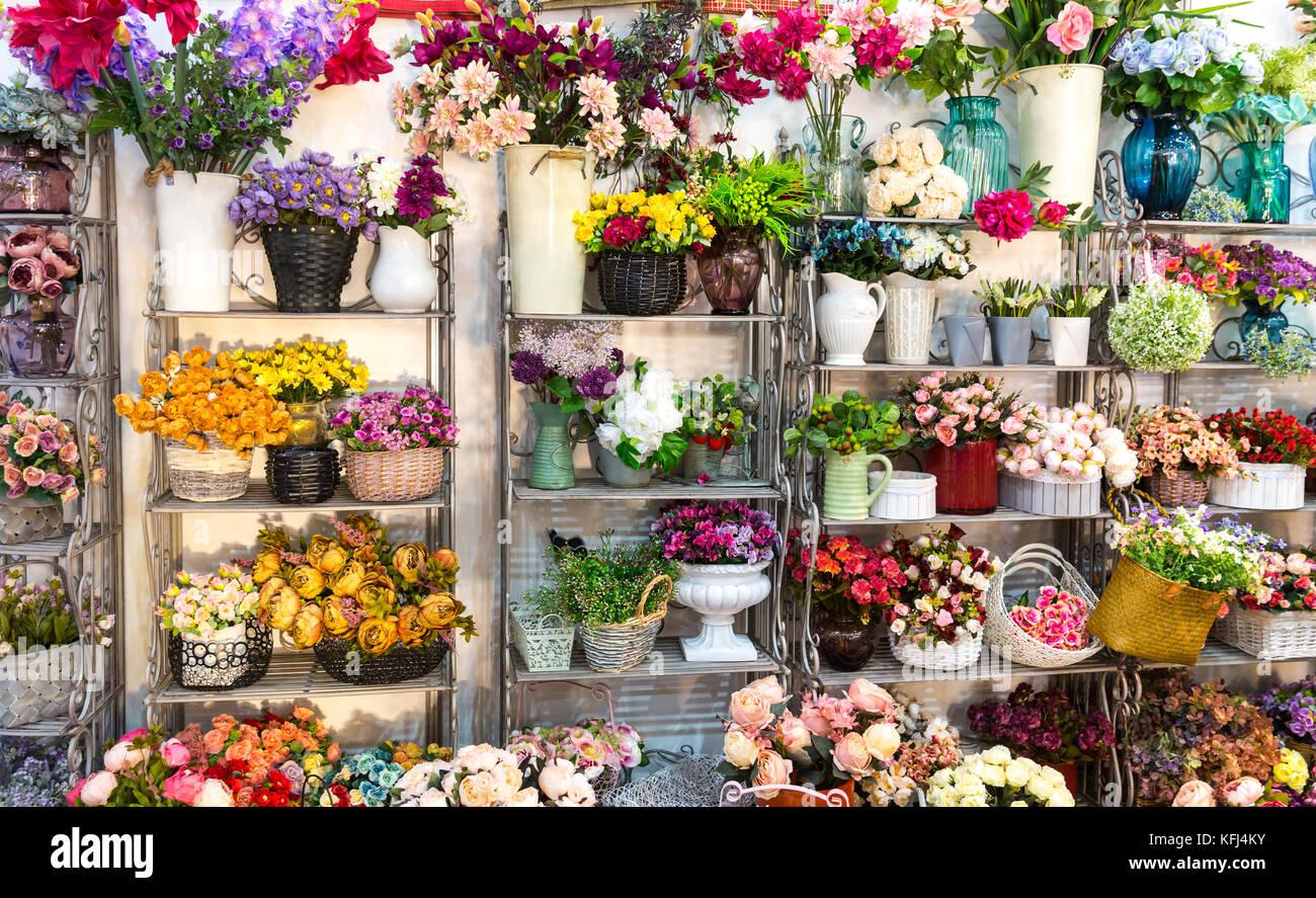 Flower shop bouquets on shelf florist business beautiful floral flower shop bouquets on shelf florist business beautiful floral decoration izmirmasajfo