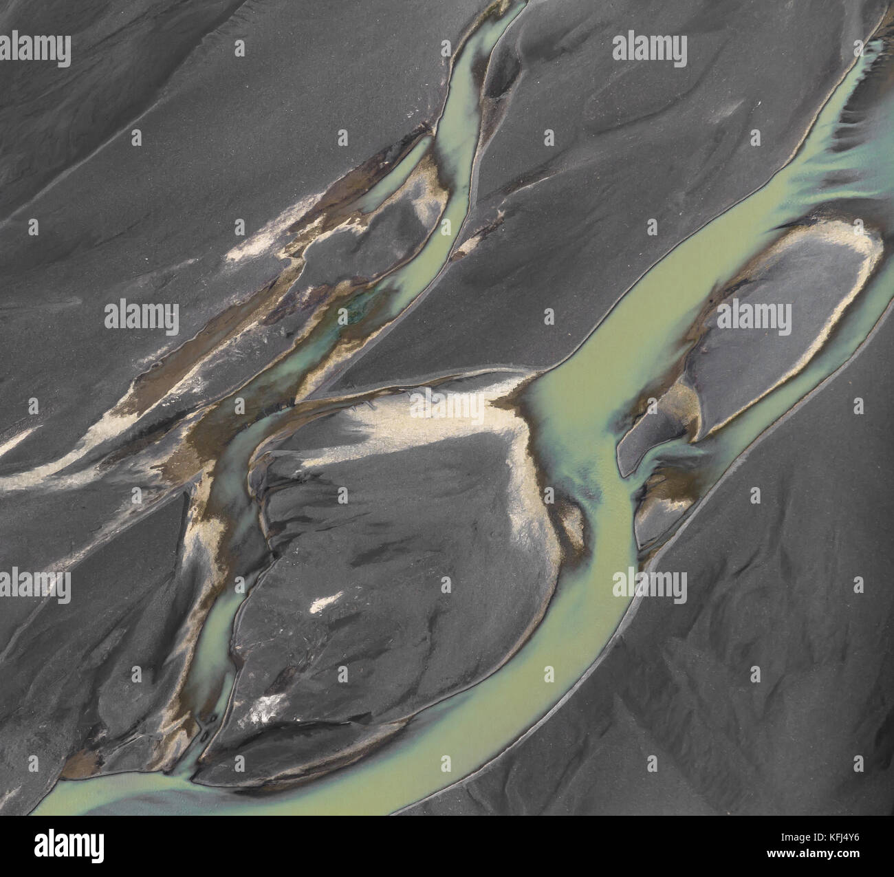 River abstract in the Highlands of Icelsnd - Stock Image
