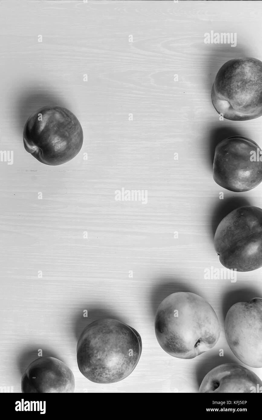 composition of ripe peaches  - Stock Image