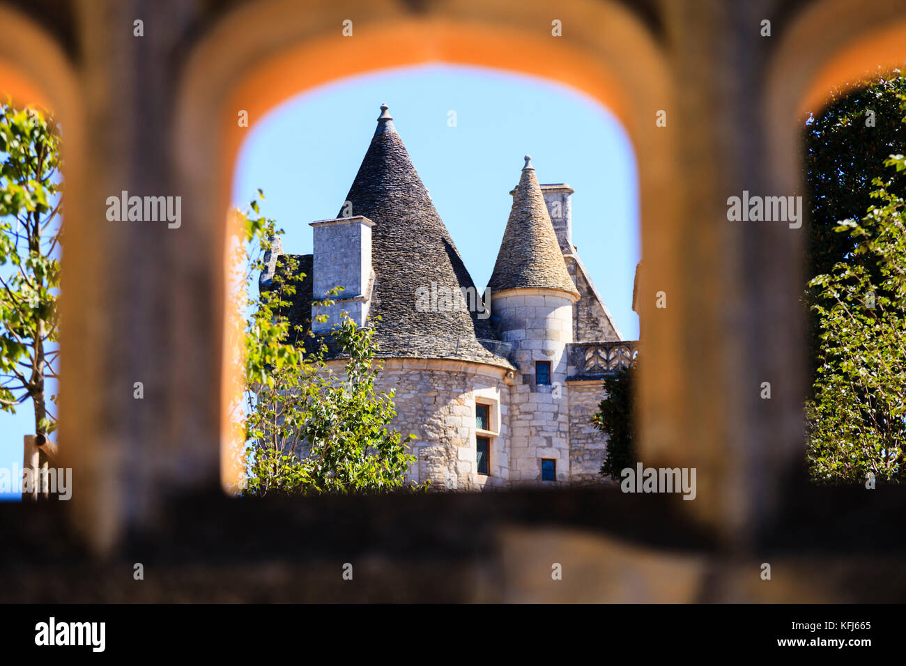 The Château des Milandes, home to Josephine Baker - Stock Image
