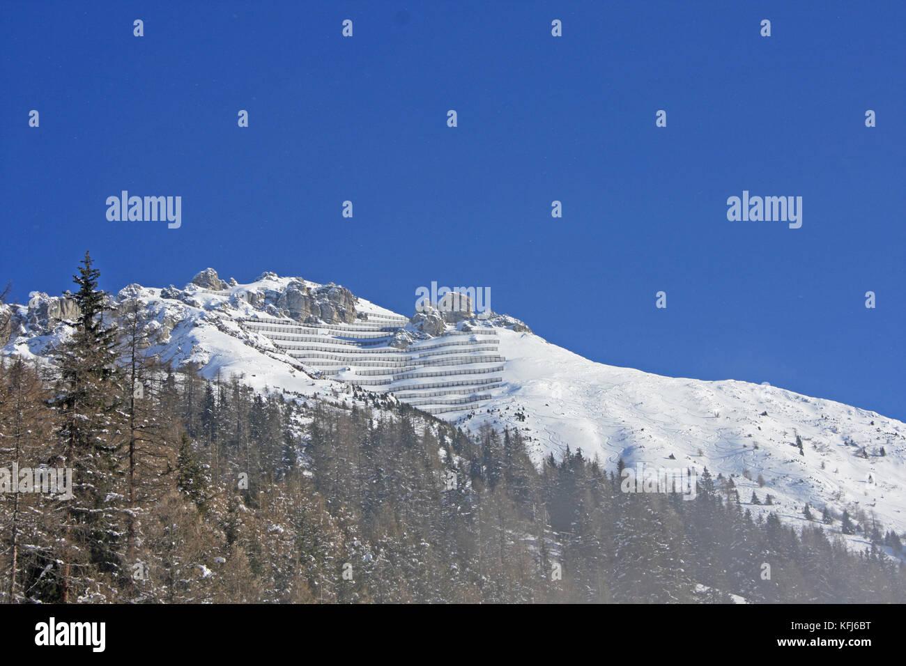 Axamer Lizum Skigebiet in Österreich - Stock Image