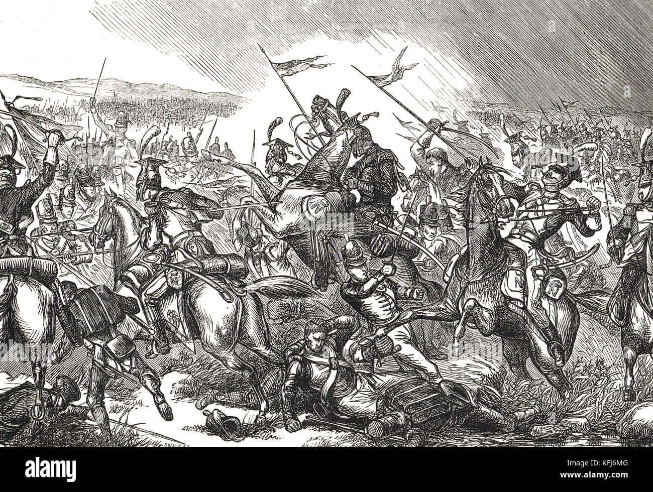 The Battle of Albuera, Spain, 16 May 1811 - Stock Image