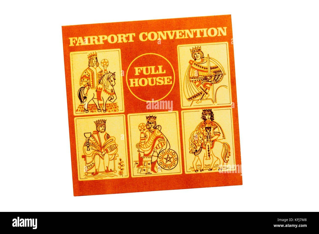 Full House was the fifth album by British folk rock band Fairport Convention. Released in 1970. - Stock Image