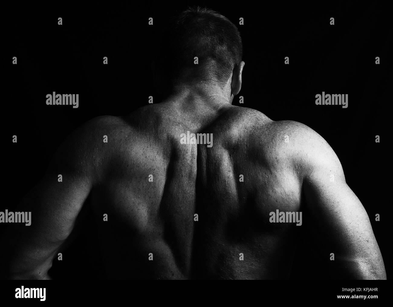 Body builder black and white stock photo 164516627 alamy