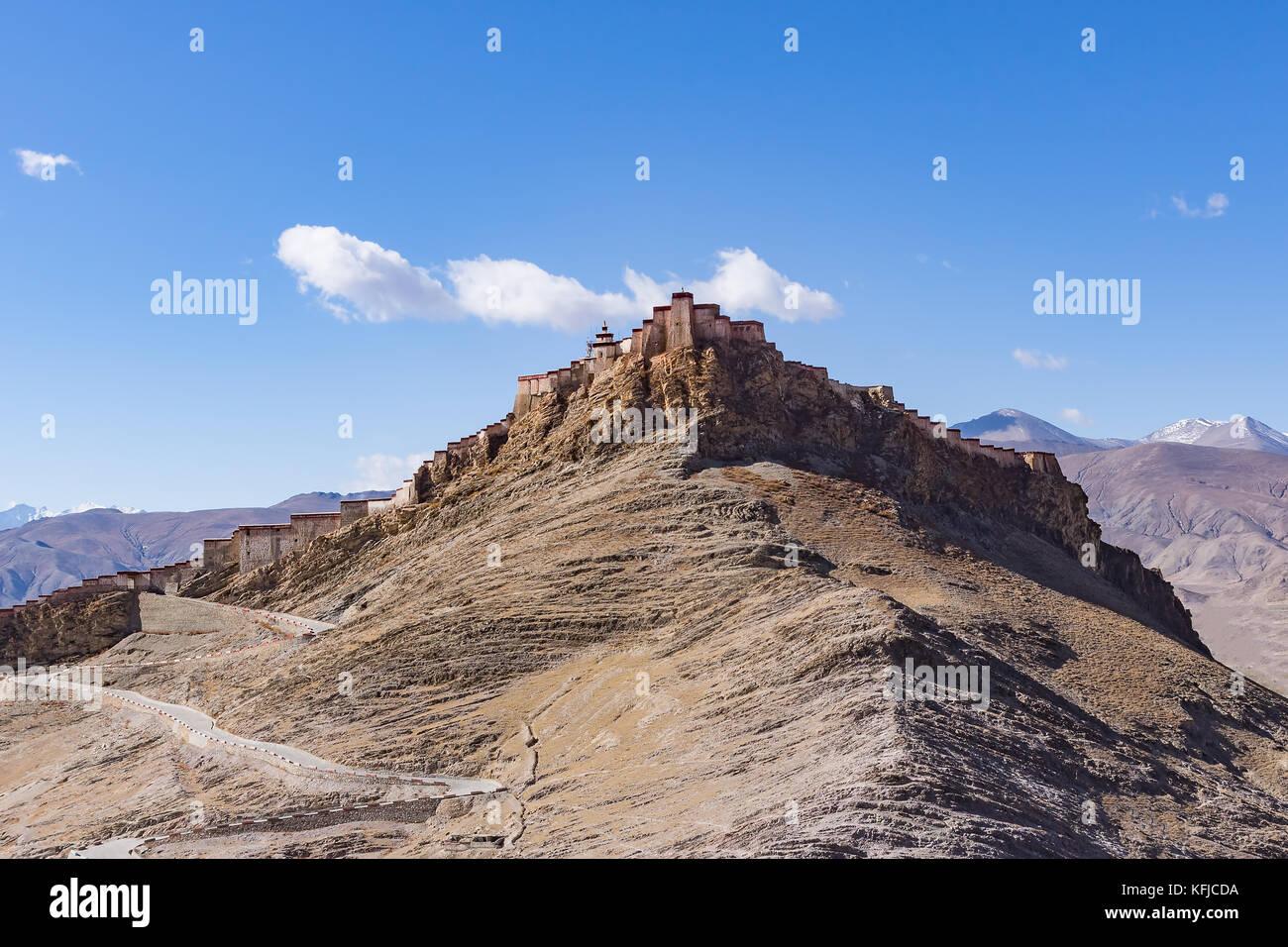 Gyantse Fort - Tibet - Stock Image