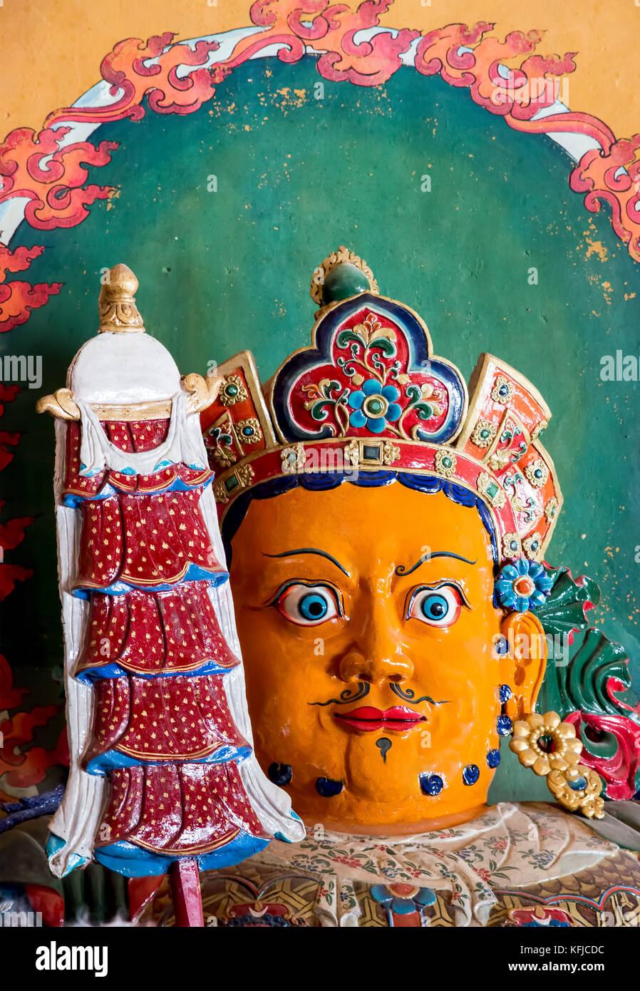 Buddhist artwork in Palcho Monaster - Gyantse, Tibet Stock Photo