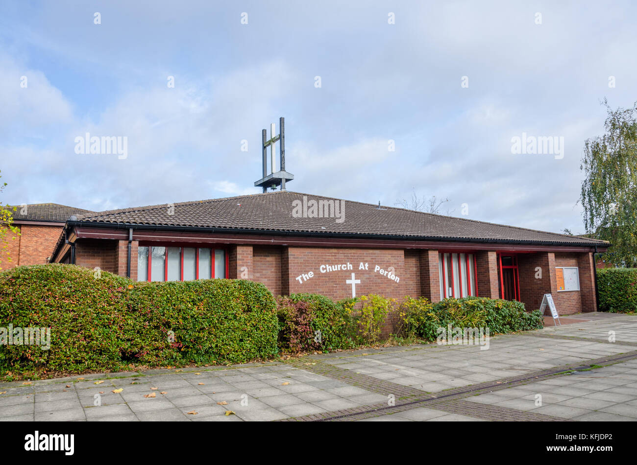 The church in the centre of the village of Perton in South Staffodshire near Wolverhampton in the UK. - Stock Image