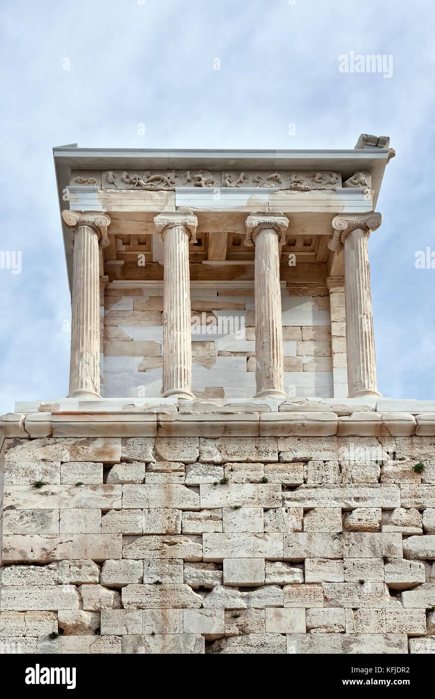 Temple dedicated to the goddess Athena Nika. Athens Acropolis. Greece Stock Photo
