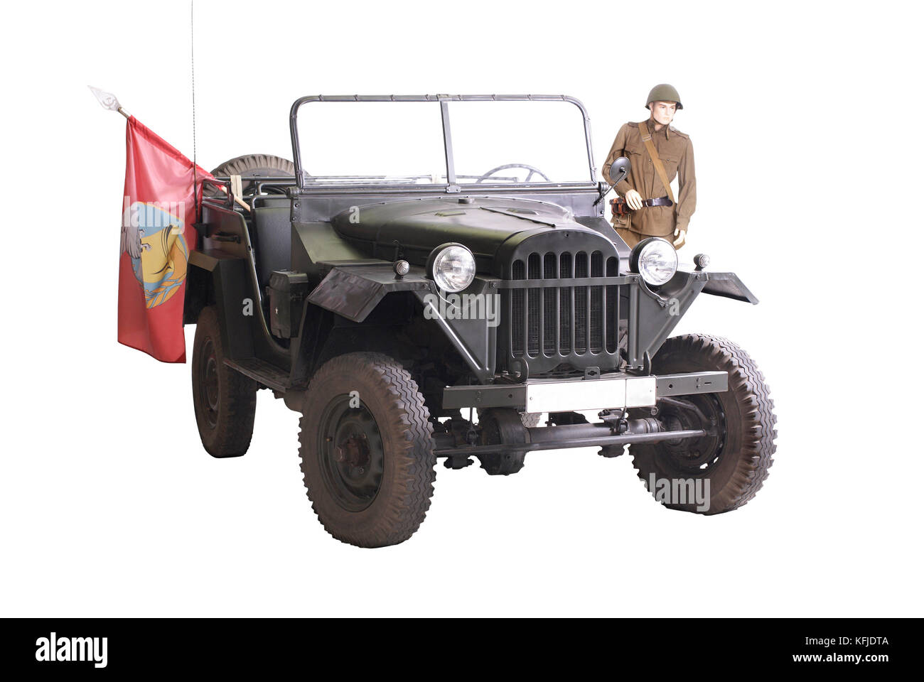 Soviet military 'jeep' (GAZ 67 - model of the 1940's) Along with legendary lend-lease Willys was  base - Stock Image