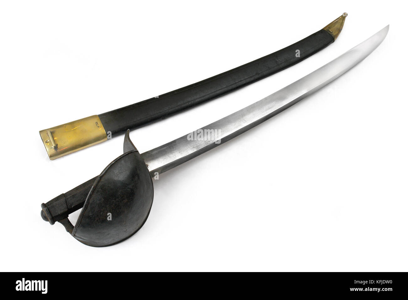 French navy grapnel saber (sabre). The 19th century. France - Stock Image