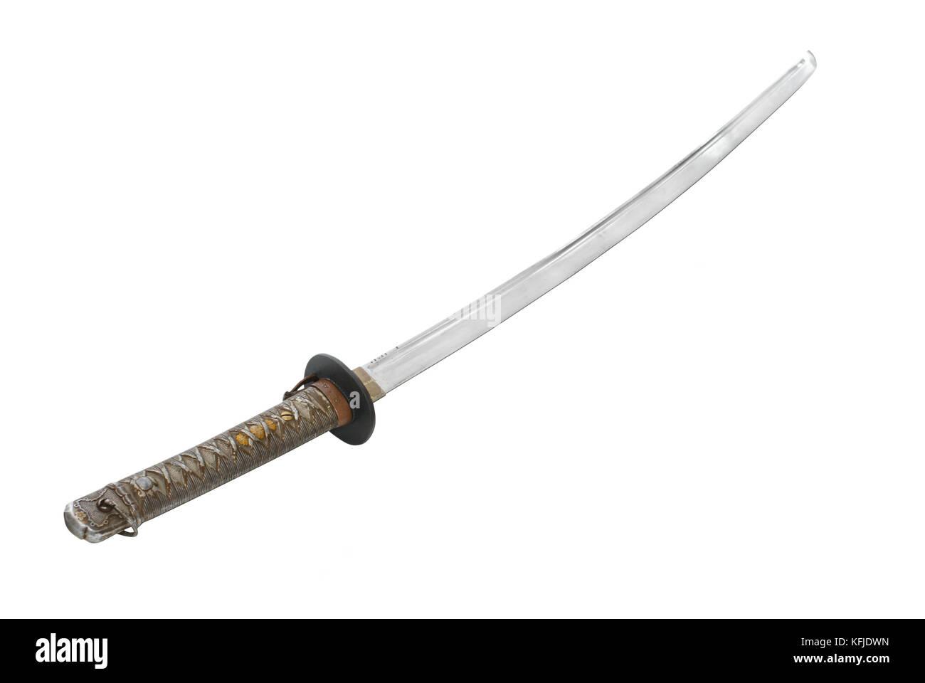 Samurai Sword Close Up Stock Photos Pro Knife Japanese Sergeants New Military Shin Gunt 1939 44