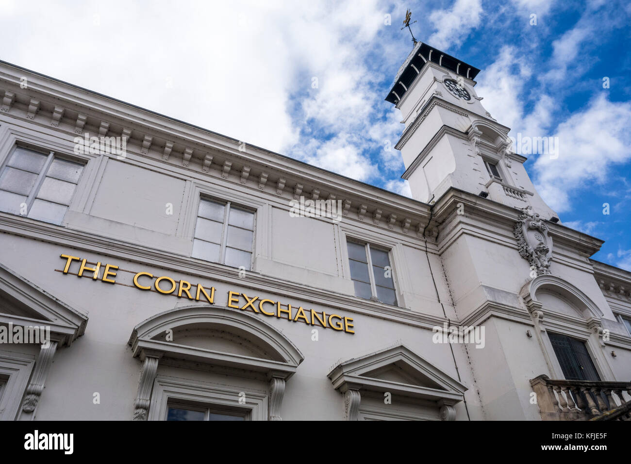 The Corn Exchange building, Leicester, Leicestershire, East Midlands, UK - Stock Image
