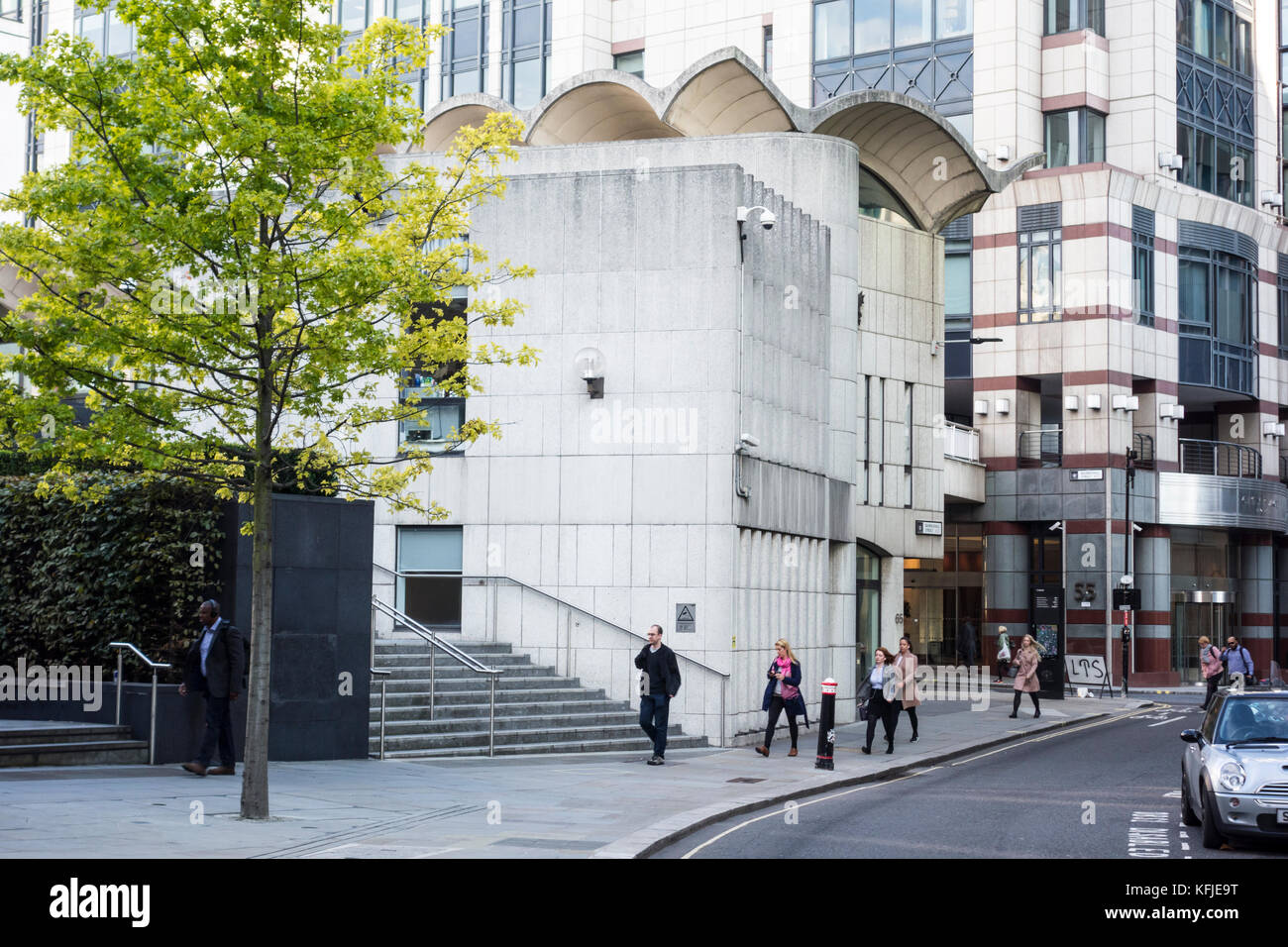 Guildhall extension by Richard Gilbert Scott, Basinghall Street, City of London, UK - Stock Image