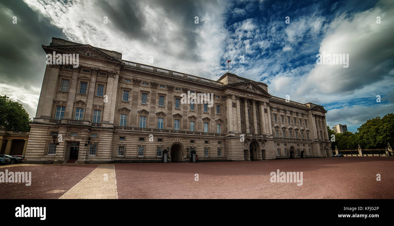 LONDON, THE UNITED KINGDOM – 2 OKTOBER, 2017: Buckingham Palace - Stock Image