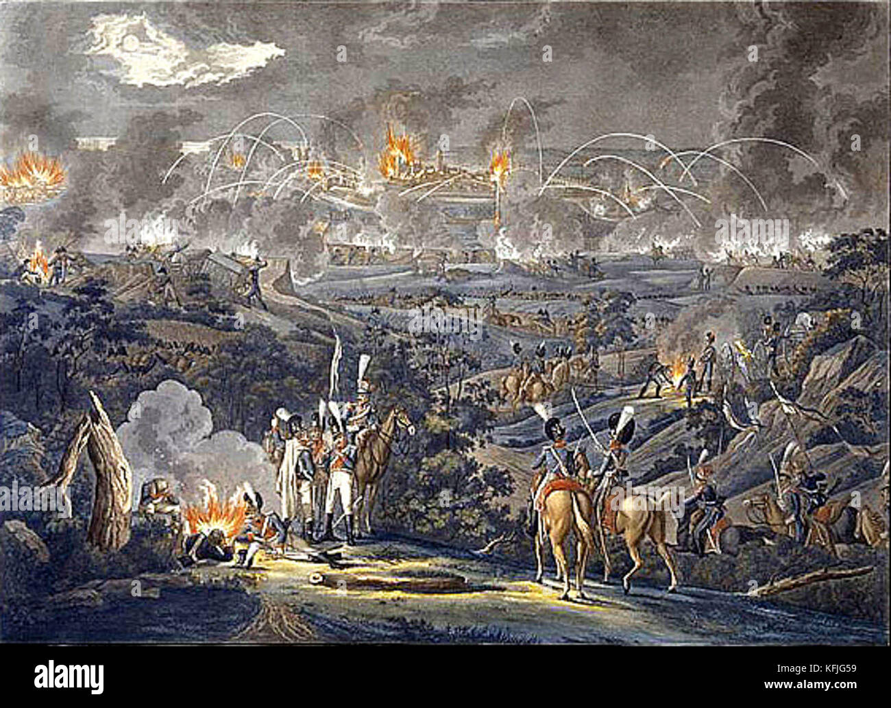 The Siege of Danzig, 1807 Stock Photo