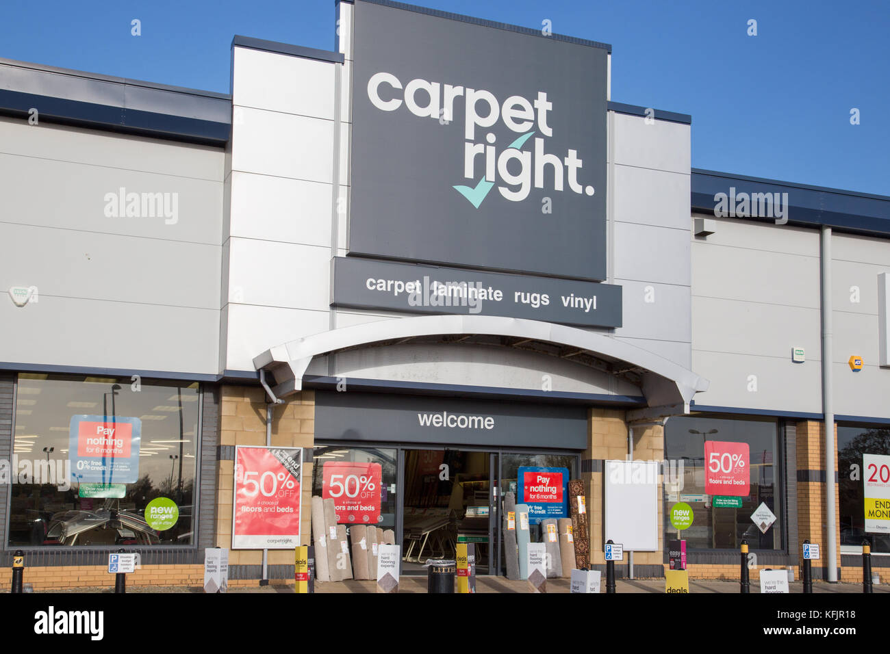Carpet Right store, Southport Stock Photo