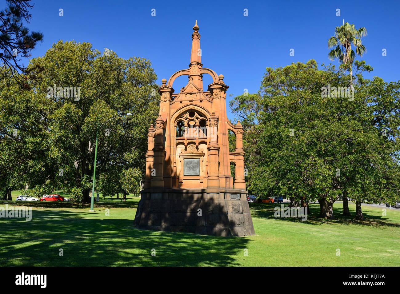 Boer War Memorial within the King's Domain Park in Melbourne, Victoria, Australia - Stock Image