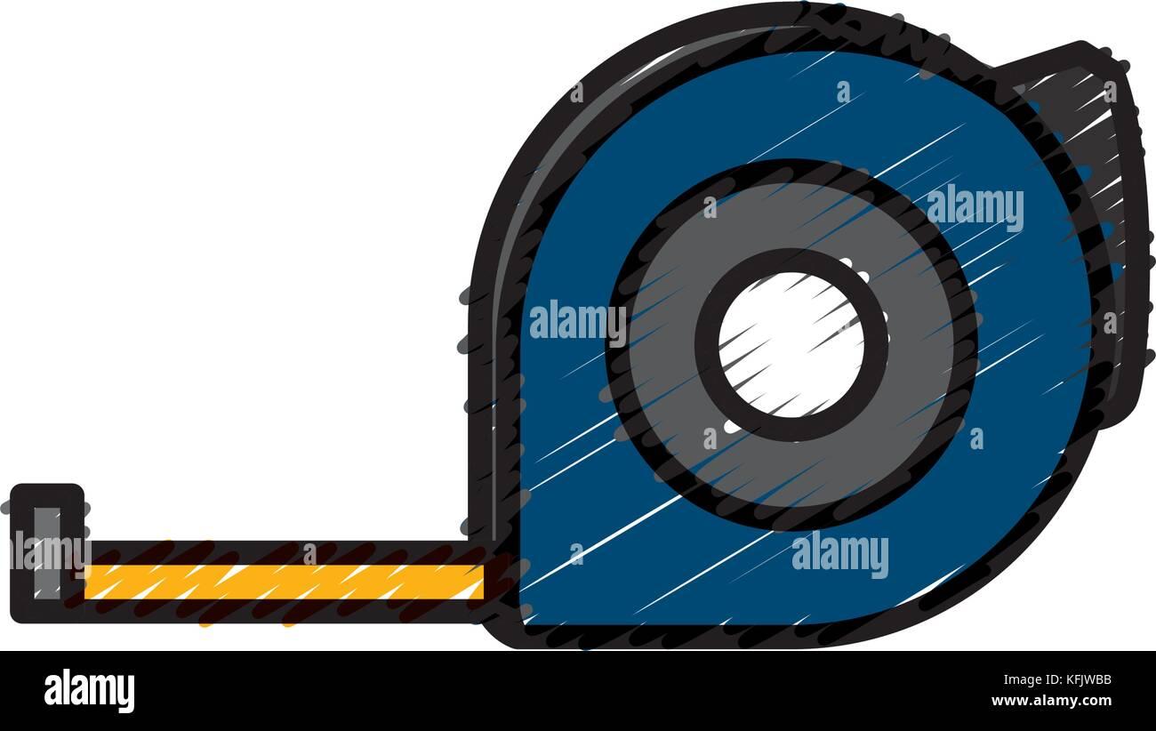 Construction measurement tape - Stock Image