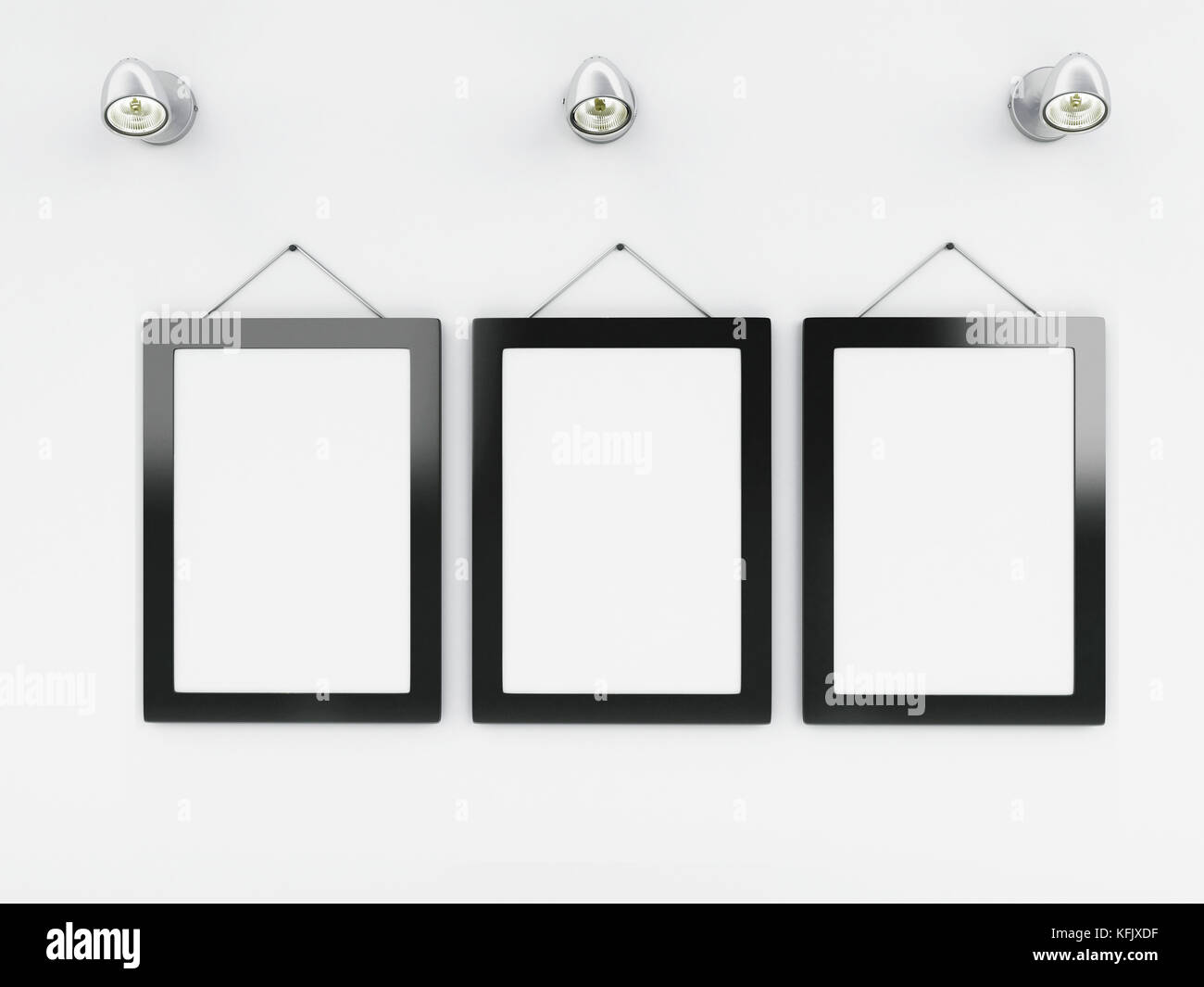 3d illustration. Empty frames template with place for your text and ...