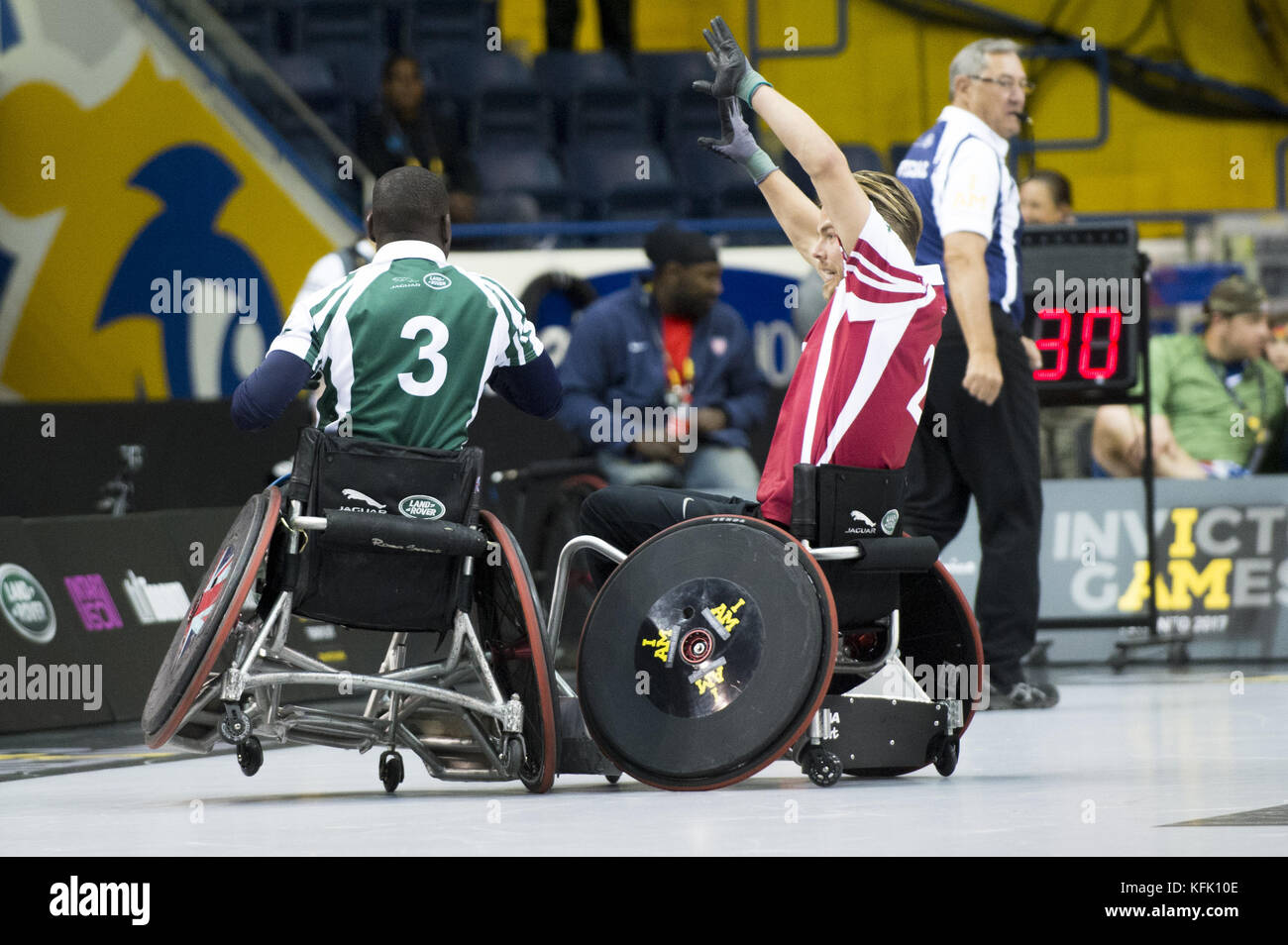 wheelchair rugby on day 6 of the invictus games toronto 2017 at the