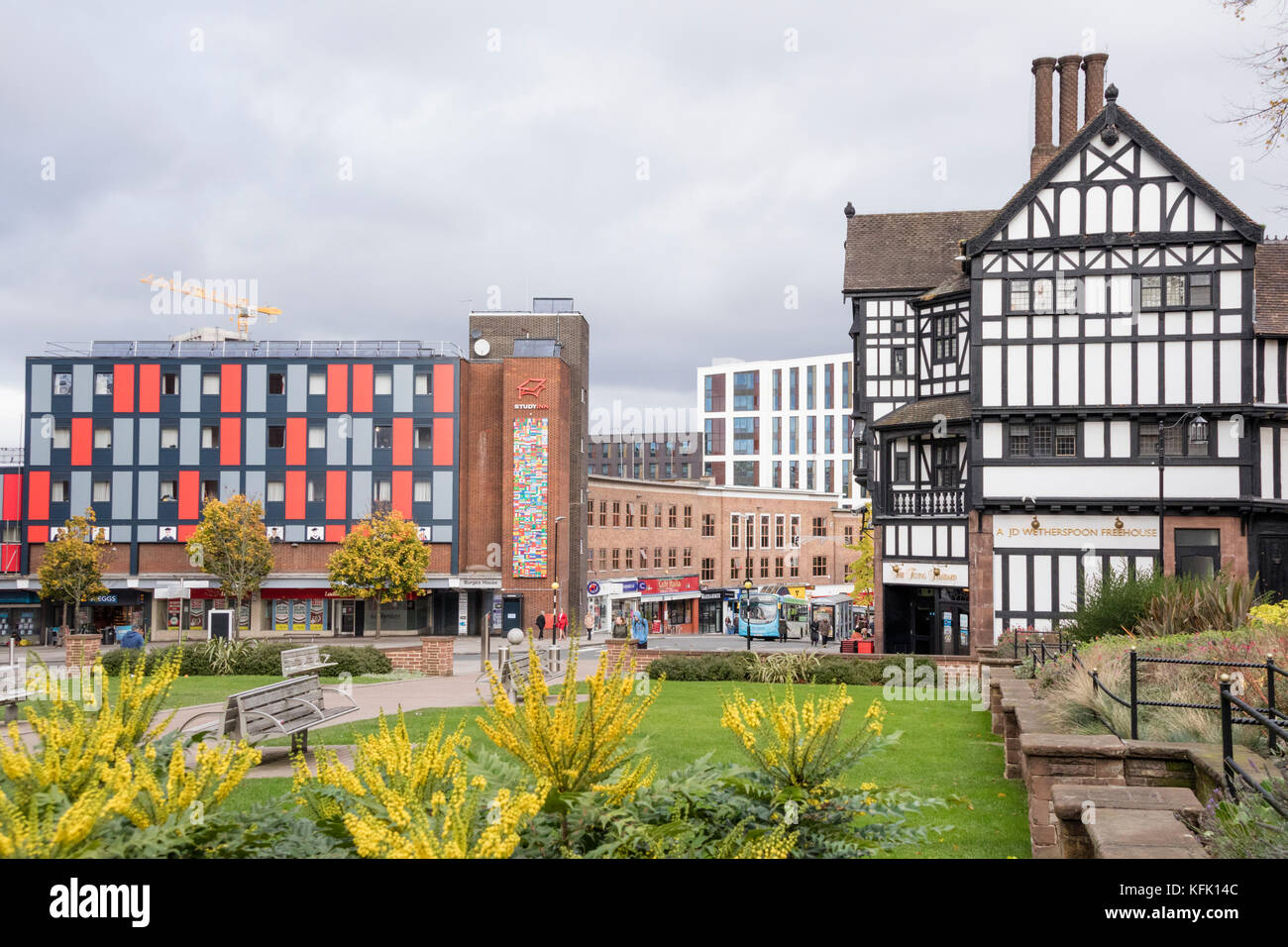 Coventry city center, England, UK - Stock Image