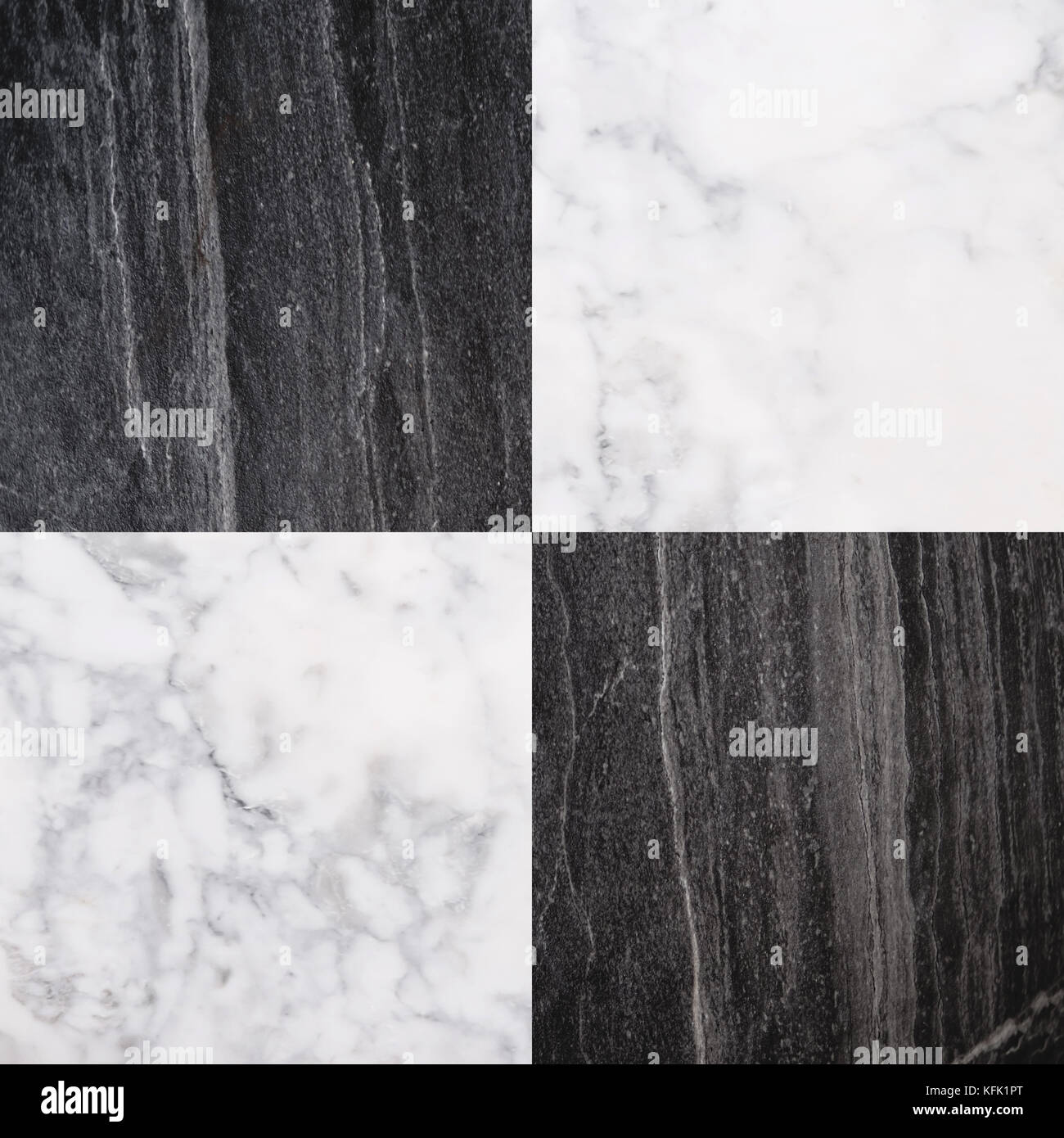 Black And White Marble Stone Tile Seamless Stone Texture Background Stock Photo Alamy