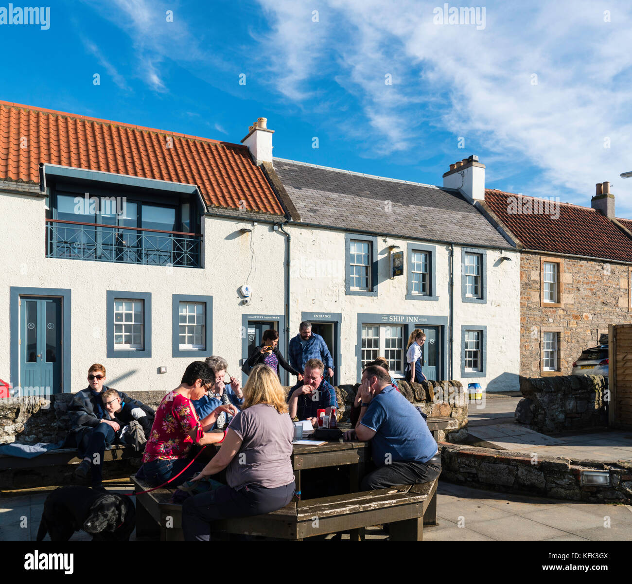 View of Ship Inn bar and restaurant in Elie in East Neuk of Fife in Scotland, United Kingdom - Stock Image