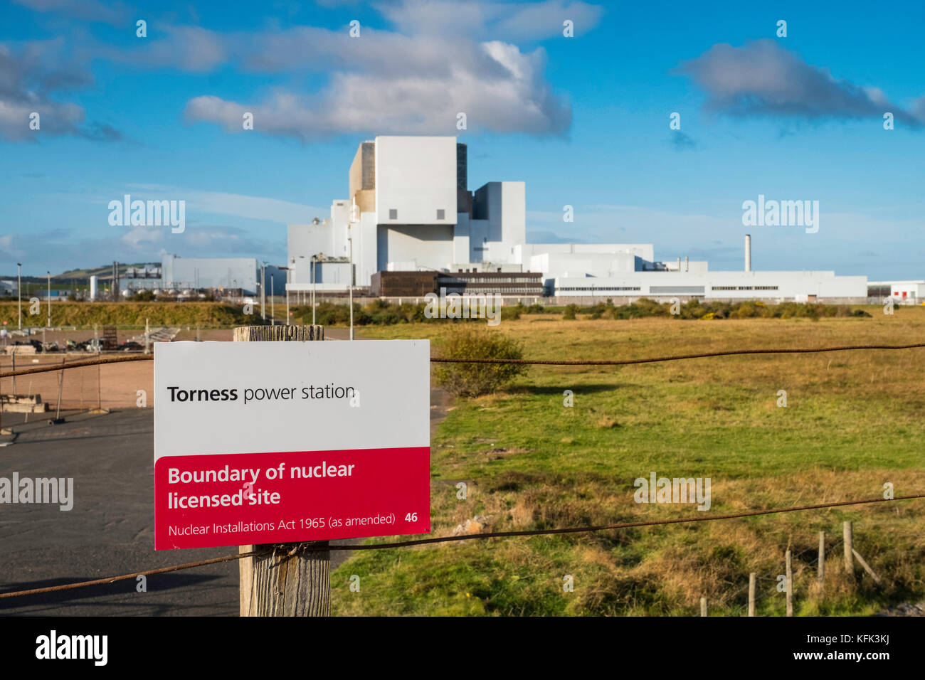 View of Torness Nuclear Power station in Scotland, United Kingdom. - Stock Image