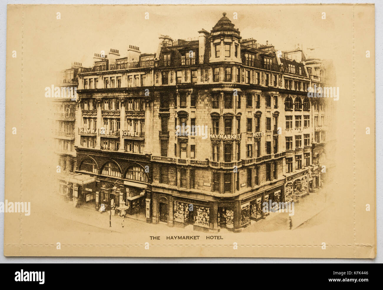 Black And White Postcard From >> Old Monochrome Postcard From The Haymarket Hotel London Corner Of