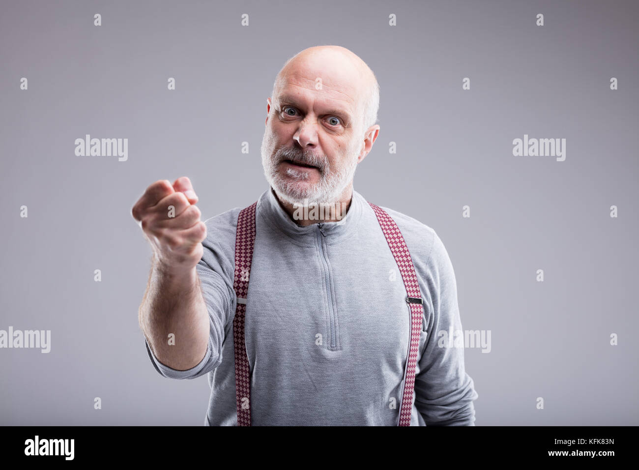 Angry Old Man High Resolution Stock Photography And Images Alamy