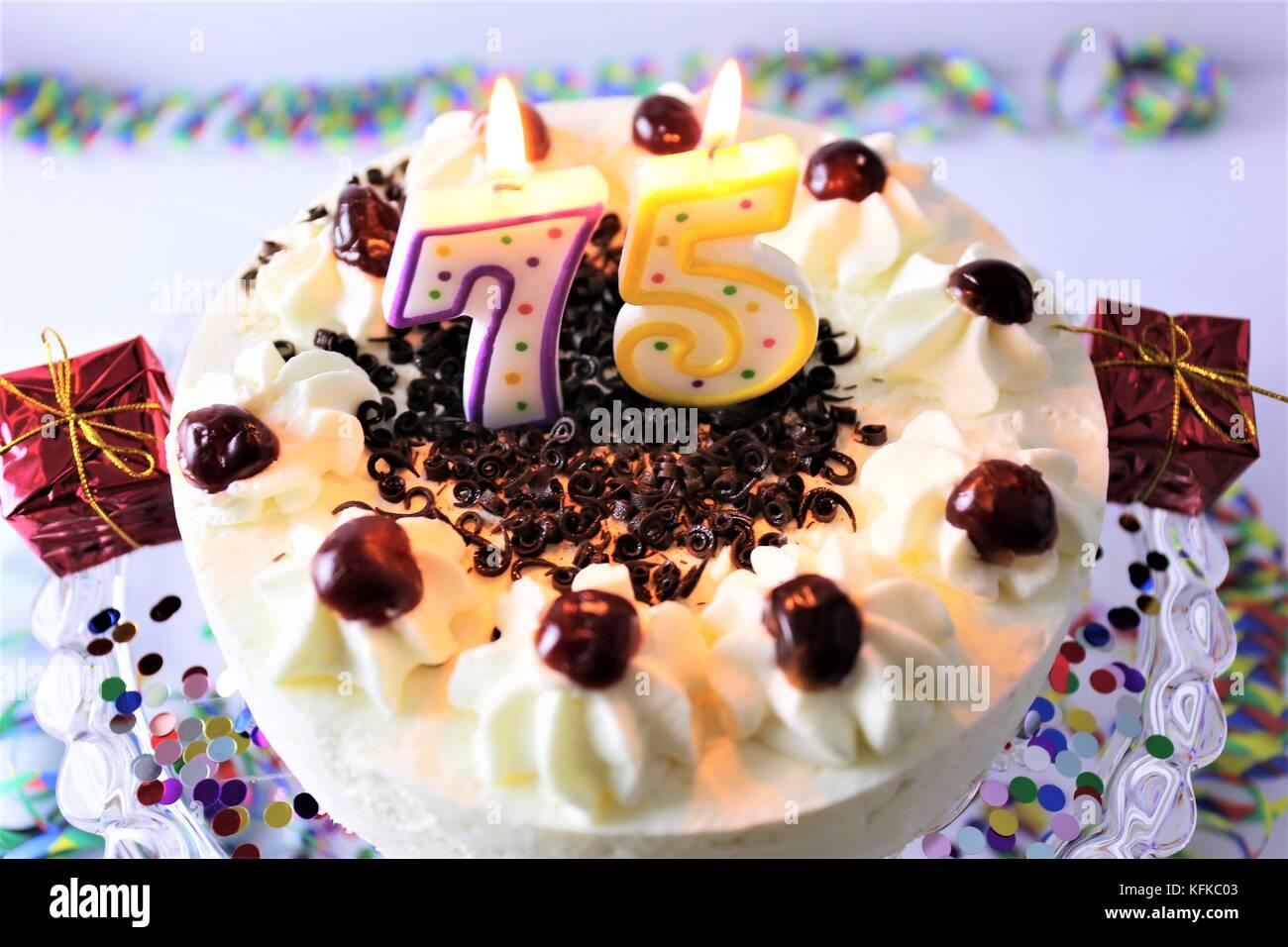 Birthday Cake 75th Birthday Stock Photos Birthday Cake 75th